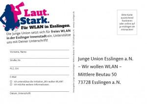 "Postkarte ""Wir wollen WLAN!"" (Rückseite)"